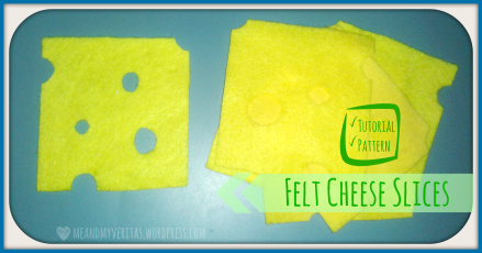 Felt Cheese Slices: Free Pattern and Tutorial