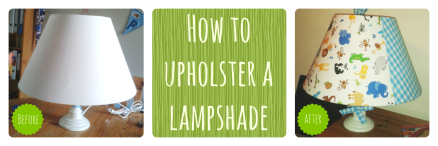 How to recover a lamp shade.