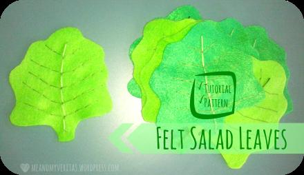 Felt Salad Leaves: Free Pattern and Tutorial