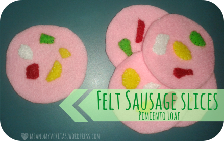 Felt Sausage Slices Pimiento Loaf: Free Pattern and Tutorial