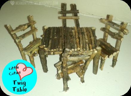 Little Cuties: Twig Table