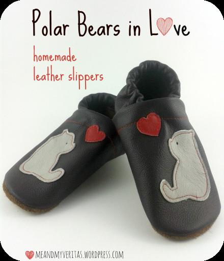 Polar Bears in Love: Homemade Leather Slippers